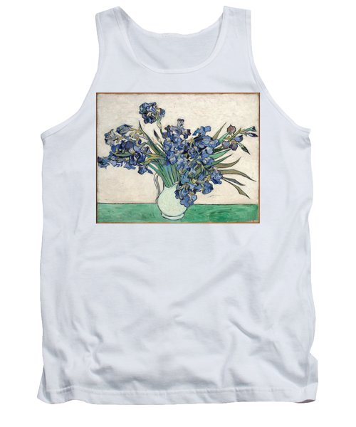 Tank Top featuring the painting Vase With Irises by Van Gogh
