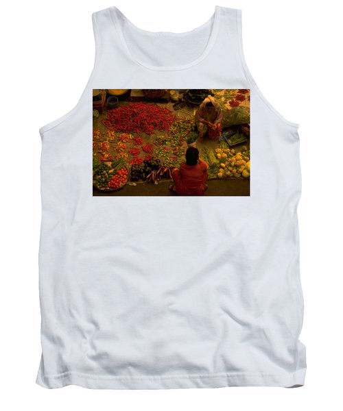 Vegetable Market In Malaysia Tank Top