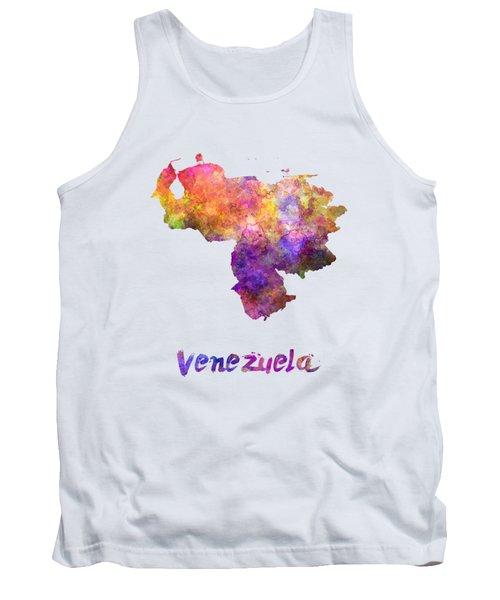 Venezuela In Watercolor Tank Top