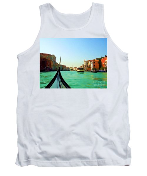 Tank Top featuring the photograph Venice Waterway by Roberta Byram