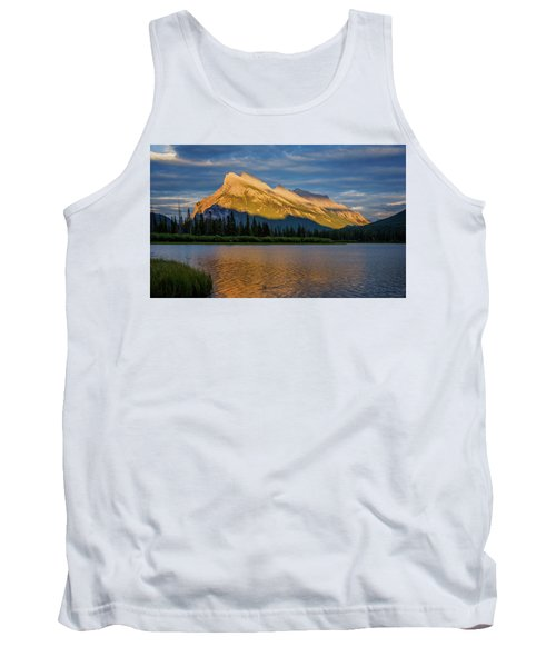Vermillion Lakes And Mt Rundle Tank Top