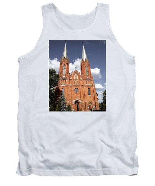 Very Old Church In Odrzywol, Poland Tank Top