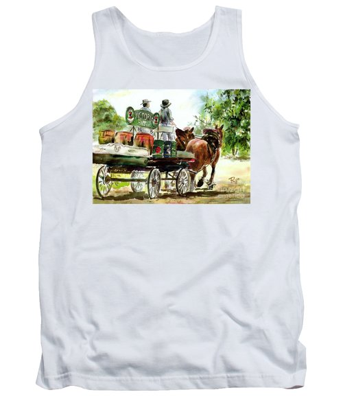 Tank Top featuring the painting Victoria Bitter, Working Clydesdales. by Ryn Shell