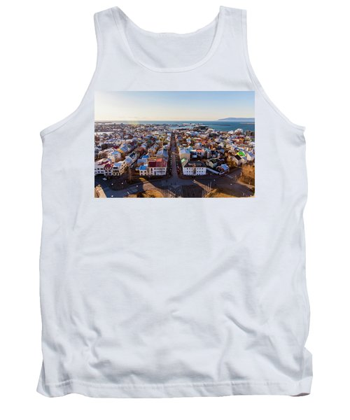 View From Hallgrimskirka Tank Top by Wade Courtney