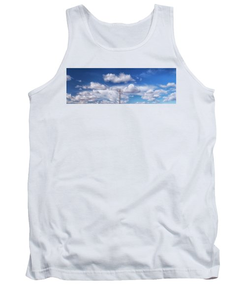 View Of A Phone Pole Tank Top