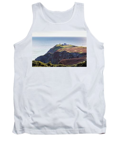 Tank Top featuring the photograph View Of The Trails On Howth Cliffs And Howth Head In Ireland by Semmick Photo