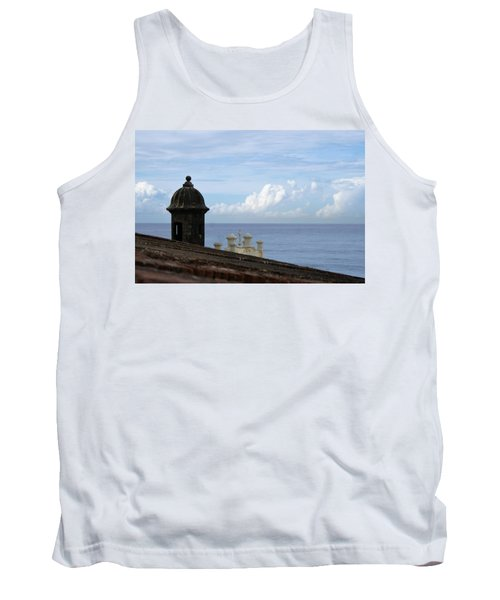 Tank Top featuring the photograph View To The Sea From El Morro by Lois Lepisto