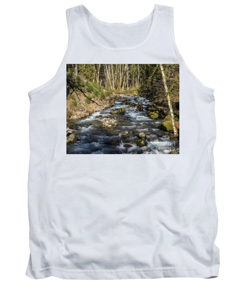 Views Of A Stream, Iv Tank Top by Chuck Flewelling