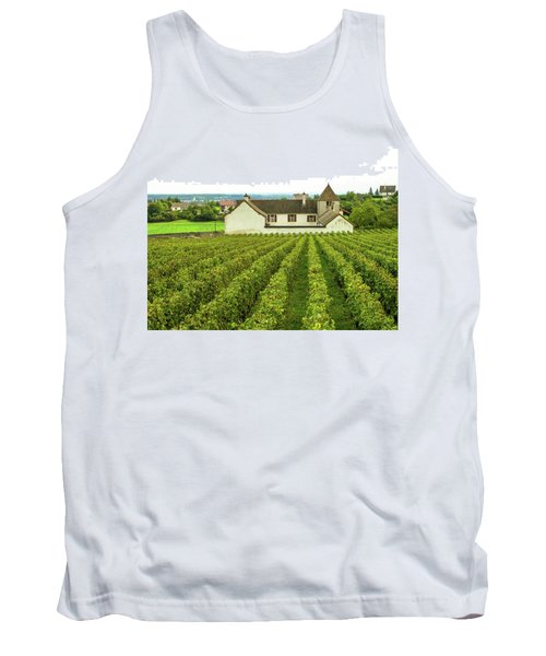 Tank Top featuring the photograph Vineyard In France by Jim Mathis