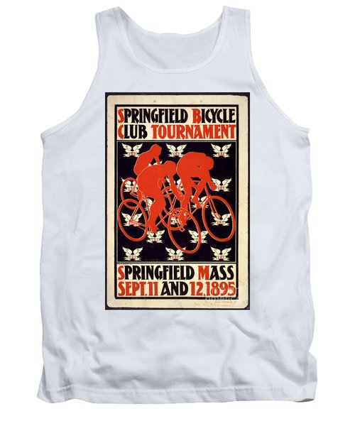 Tank Top featuring the photograph Vintage 1895 Springfield Bicycle Club Poster by John Stephens