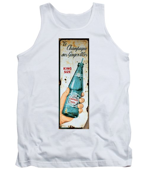 Vintage Canada Dry Sign Tank Top