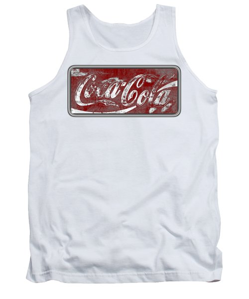Vintage Coca Cola Red And White Sign With Transparent Background Tank Top