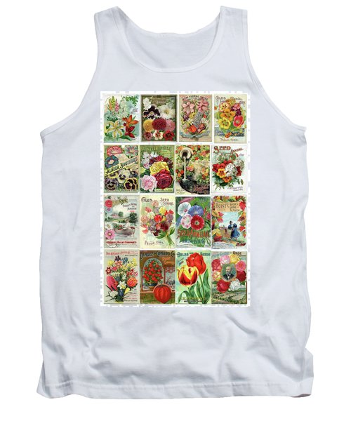 Vintage Flower Seed Packets 1 Tank Top