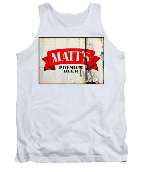Vintage Matt's Premium Beer Sign Tank Top