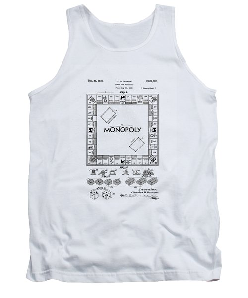 Tank Top featuring the photograph Vintage Monopoly Patent 1935 by Bill Cannon