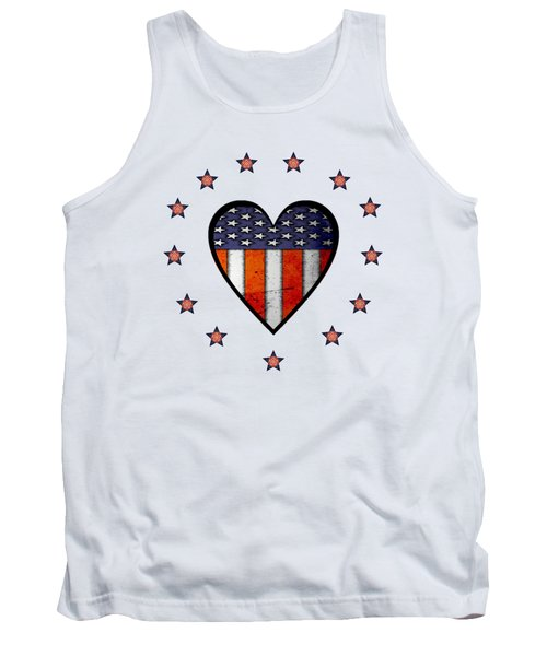 Vintage Patriotic Heart Tank Top