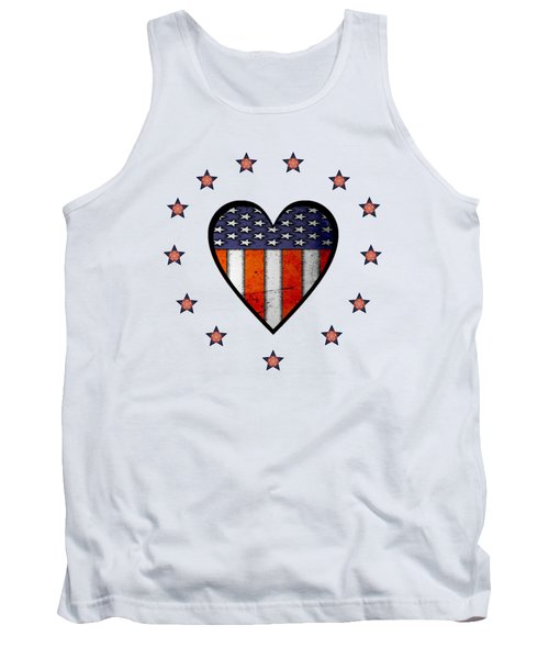 Vintage Patriotic Heart Tank Top