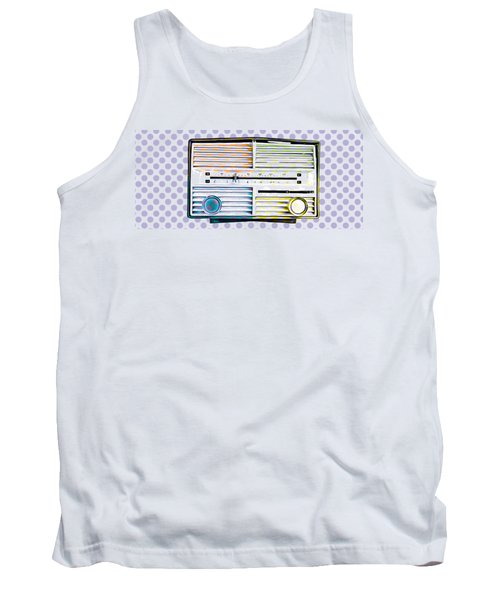 Tank Top featuring the photograph Vintage Radio Purple Dots Mug by Edward Fielding