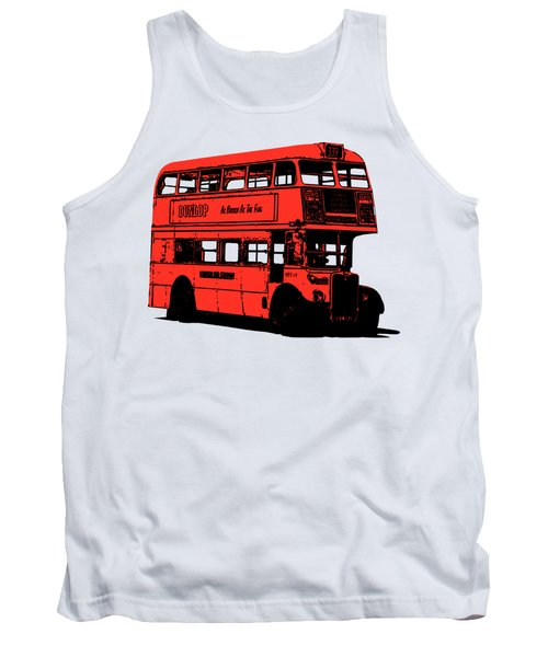 Vintage Red Double Decker London Bus Tee Tank Top
