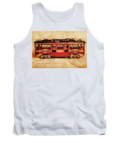 Vintage Scenes From Old Victoria Tank Top