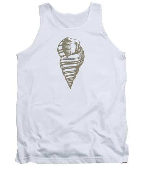 Vintage Sea Shell Illustration Tank Top by Masterpieces Of Art