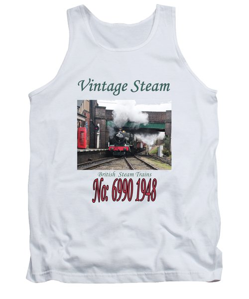 Vintage Steam Railway Train Engine Number 6990  Tank Top