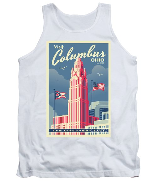 Columbus Poster - Vintage Style Travel Tank Top