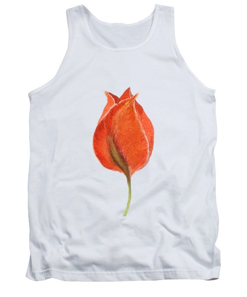 Vintage Tulip Watercolor Phone Case Tank Top