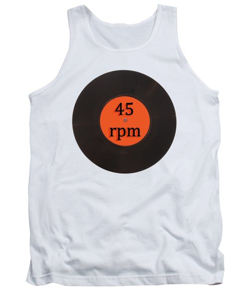 Vinyl Record Vintage 45 Rpm Single Tank Top by Tom Conway