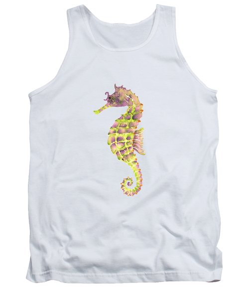 Violet Green Seahorse Tank Top by Amy Kirkpatrick