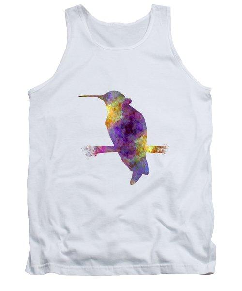 Hummingbird 01 In Watercolor Tank Top