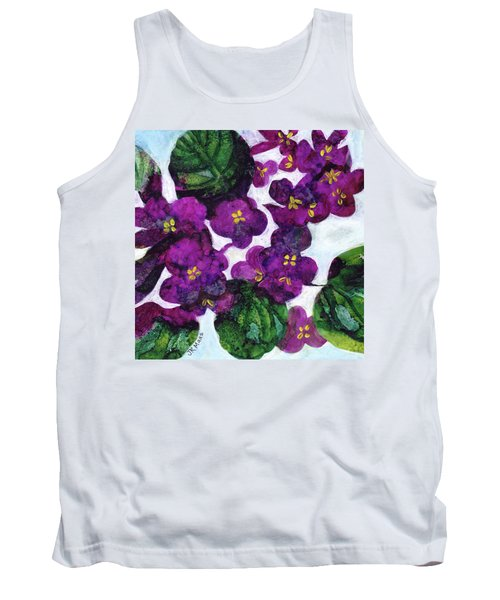 Tank Top featuring the painting Violets by Julie Maas