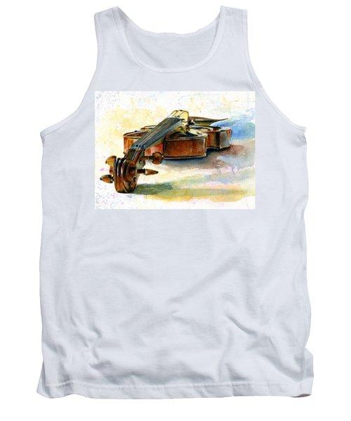 Violin 2 Tank Top by John D Benson
