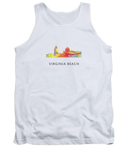 Virginia Beach  Virginia Skyline Tank Top by Marlene Watson