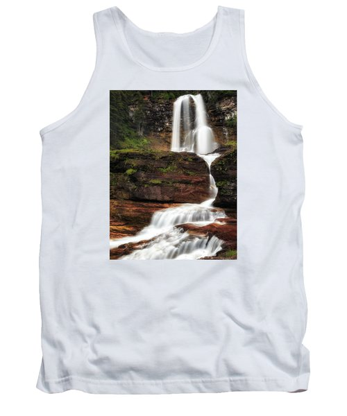Virginia Falls Glacier National Park Tank Top by John Vose