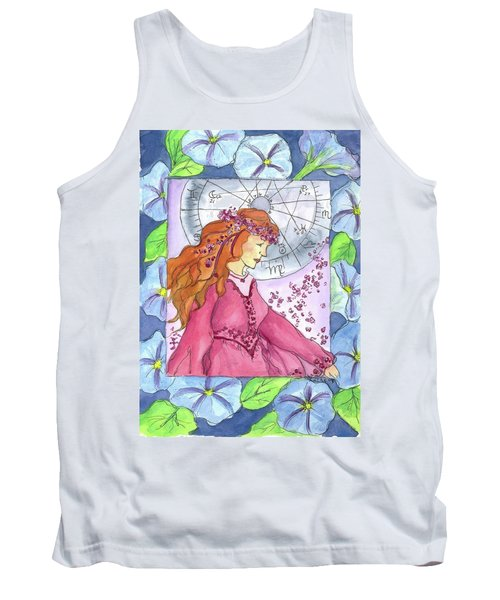 Tank Top featuring the painting Virgo by Cathie Richardson