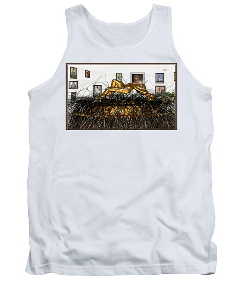 Tank Top featuring the mixed media Virtual Exhibition With Birthday Cake by Pemaro