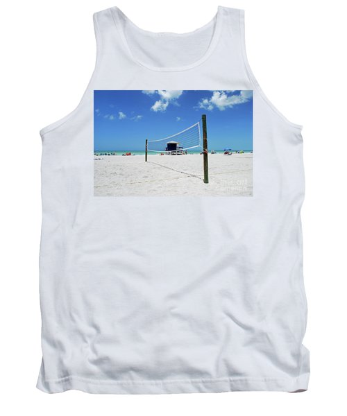 Tank Top featuring the photograph Volley Ball On The Beach by Gary Wonning