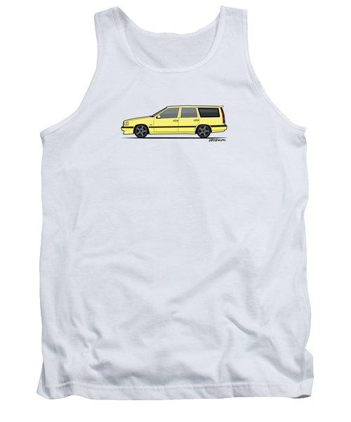 Volvo 850r 855r T5-r Swedish Turbo Wagon Cream Yellow Tank Top