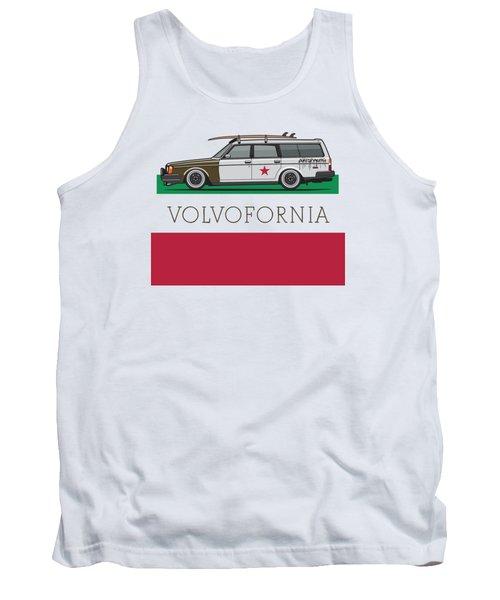Volvofornia Slammed Volvo 245 240 Wagon California Style Tank Top