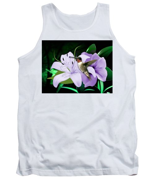 Tank Top featuring the mixed media Voyage Hummingbird by Marvin Blaine