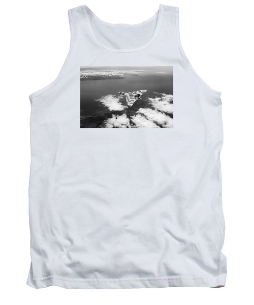 Vulcan Over South Wales Black And White Tank Top
