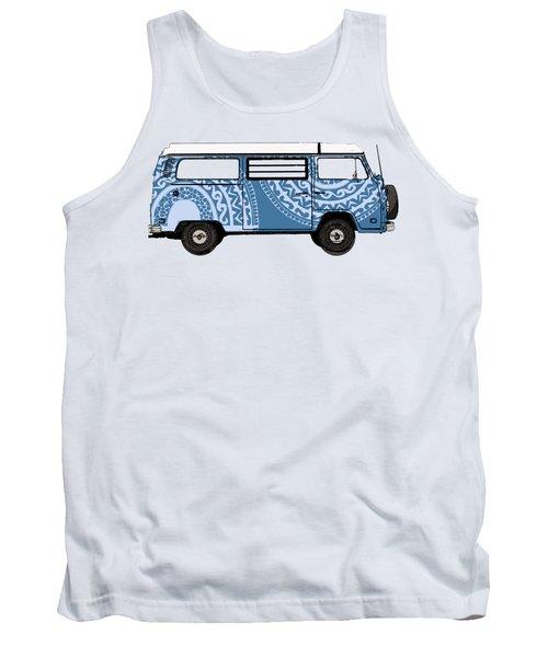 Vw Blue Van Tank Top