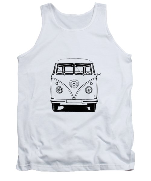 Vw Bus T-shirt Tank Top by Edward Fielding