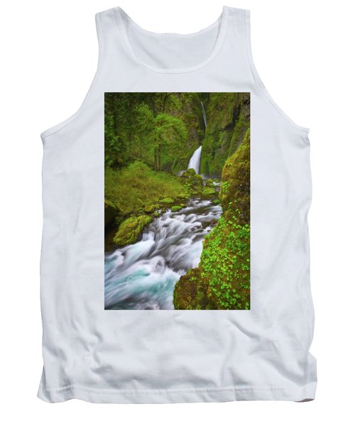 Tank Top featuring the photograph Wahclella Falls by Darren White