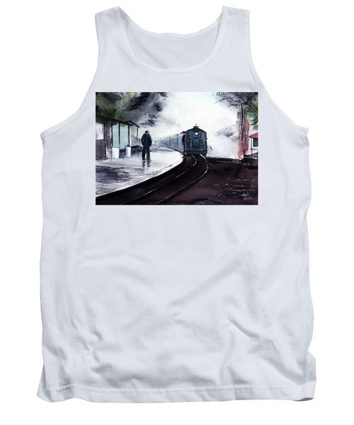 Tank Top featuring the painting Waiting by Anil Nene