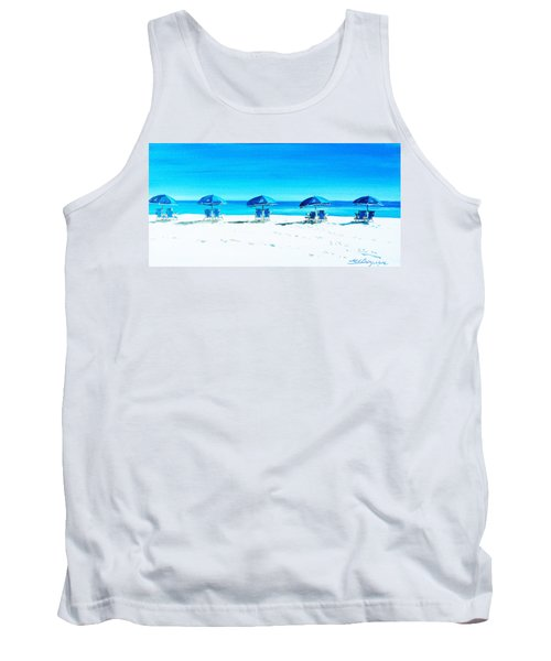 Waiting For The Beach Sitters Tank Top