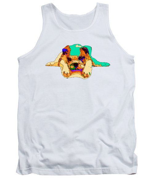 Waiting For You. Dog Series Tank Top by Rafael Salazar