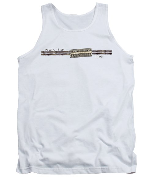 Tank Top featuring the digital art Walk The Line by Heather Applegate