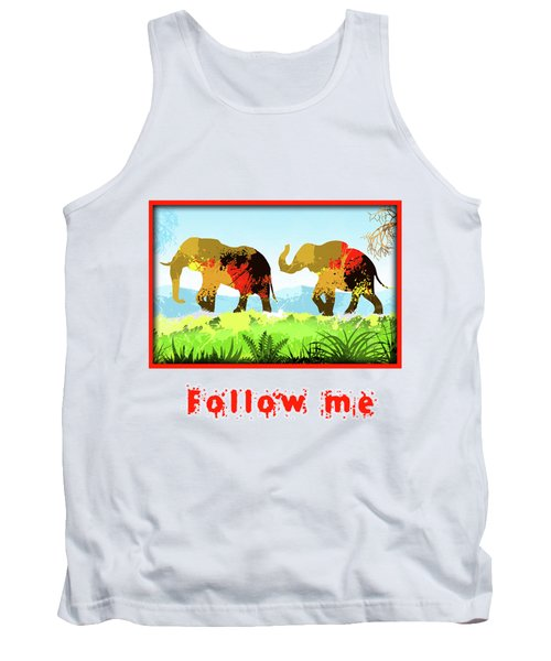 Tank Top featuring the digital art Walk With Me by Anthony Mwangi